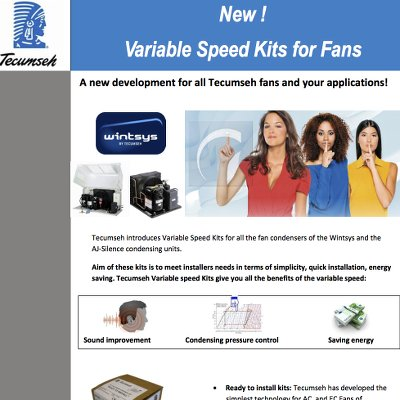 Fan Variable Speed Kits