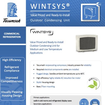 Outdoor Condensing Unit WINTSYS